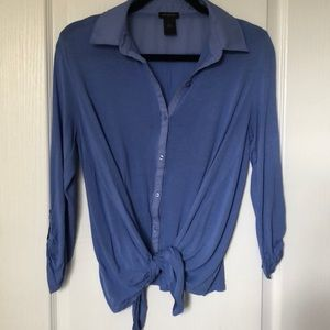 2 for $25 Ann Taylor: indigo Rayon top